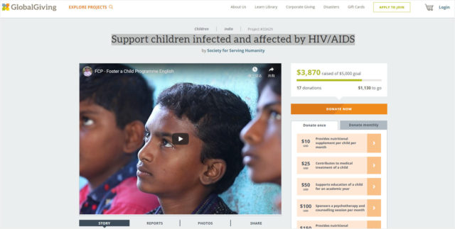 Support children infected and affected by HIV/AIDS