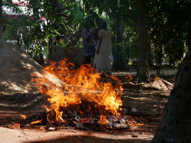インドのゴミ焼き