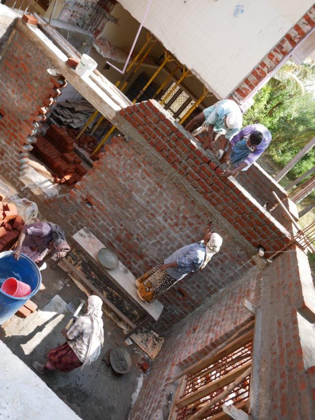インドの建築現場