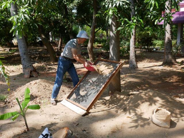 インドの土木作業