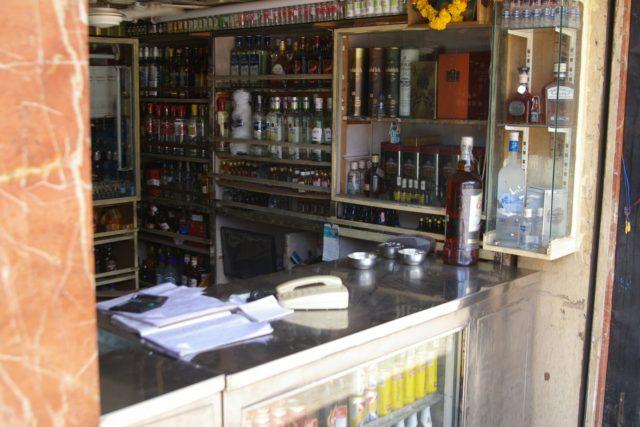 インドムンバイの酒屋