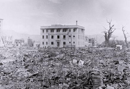 被爆直後の旧日銀広島支店
