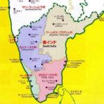 南インド地図