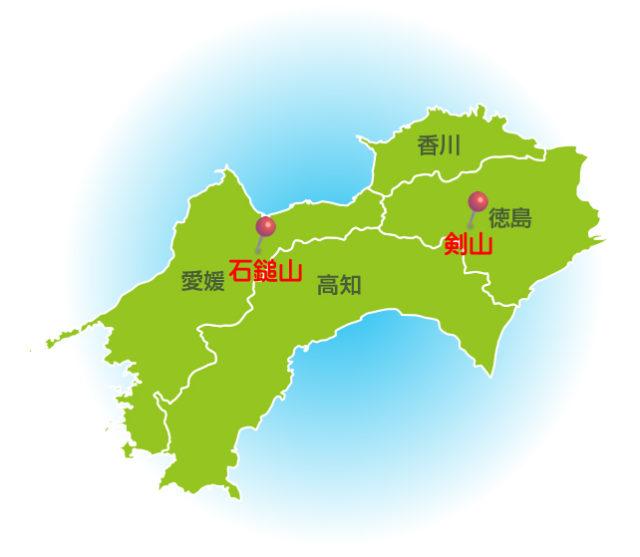 四国風水地図