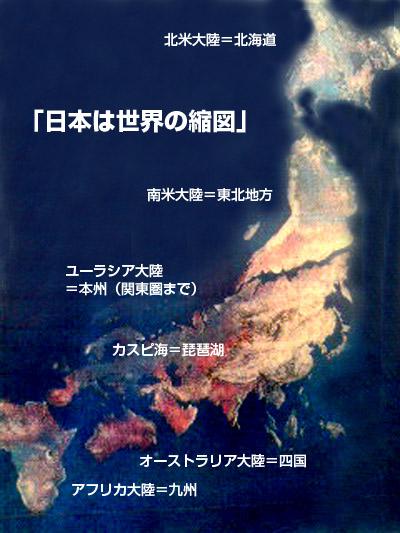 世界の大陸と日本列島